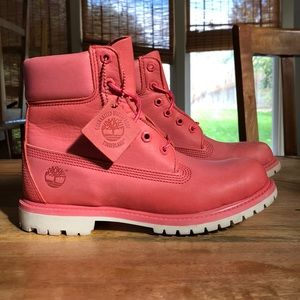 6 In Premium Spiced Coral Timberlands Size 8